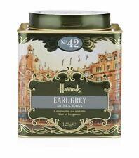 Harrods London. No. 42 Earl Grey, 50 Tea Bags 125g 4.4oz GIFT TIN CADDY