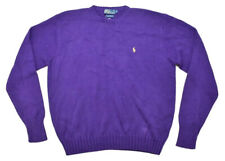 Vintage Purple Deadstock Polo by Ralph Lauren Knitted Cotton Sweater Mens Size L
