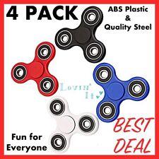 4 Pack Tri intranquilo dedo hilanderos por diversión, aliviar el estrés. Calidad plástico & Acero
