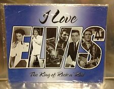 """15"""" X 12"""" METAL SIGN I LOVE ELVIS THE KING OF ROCK N ROLL TIN NEW"""