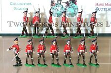TWO WORLDS MINIATURES ROYAL SCOT REGIMENT SOLDIERS MARCHING x 13 set 1 my