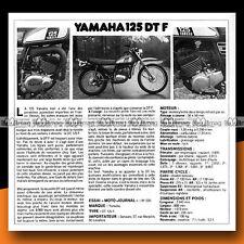 ★ YAMAHA DT 125 F (DTF) ★ 1975 Essai Moto / Original Road Test #a113