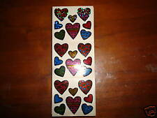 Scrapbooking Stickers Sparkle Pattern Dots Hearts 8 dif