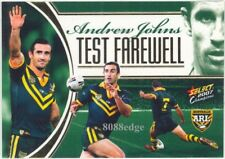 2007 SELECT CHAMPIONS NRL CASE CARD #CC6: ANDREW JOHNS #67 TEST FAREWELL