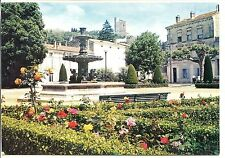 CP 26 DRÔME - Crest - Le square, la fontaine au fond, la tour
