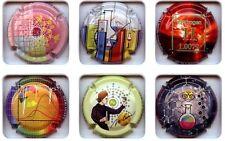 Série de 6 capsules de champagne Génerique  mondial de la chimie N°808a808e
