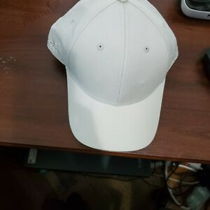 ROLEX  100% Cotton Off White BASEBALL CAP Double Sided Gray LOGO ADJUST STRAP