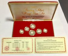 Singapore 1986 Sterling Silver Proof Coin Set.