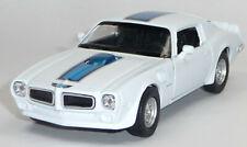 1972 Pontiac Firebird TRANS AM weiß / blau ca. 1:34 / 11,5cm Sammlermodell WELLY