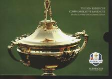 RYDER CUP 2014 FOLDER PLUS LIMITED COMMEMORATIVE ROYAL BANK SCOTLAND £5 NOTE UNC