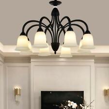 Nordic Retro 8-Head Chandeliers Glass Metal Home Lighting Ceiling Fixtures Lamps