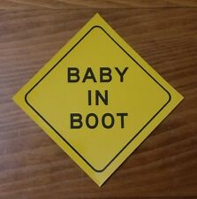 Funny bumper sticker - Baby In Boot