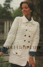Vintage Knitting Pattern Ladies Classic Jacket/Coat. Sizes 34 to 48 Inch Bust.