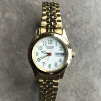 Citizen Women's Watch 1002-S99442 Quartz 25mm Gold Tone With Day/Date Bin B