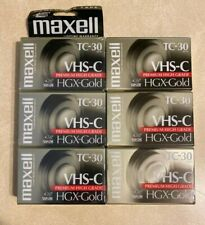 Maxell VHS-C TC-30 HGX-Gold Camcorder Blank Video Cassette Tapes -7  New sealed