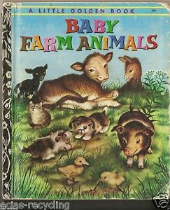 A Little Golden Book - Baby Farm Animals - 190 - Copyright 1973