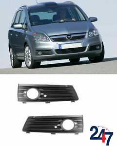 FRONT BUMPER LOWER FOG LIGHT GRILLE SET FOR VAUXHALL ZAFIRA OPEL -08