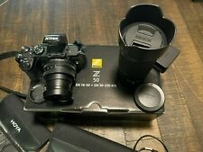 Nikon Z 50 20.9MP with 16-50mm + 50-250mm Lenses Kit Mirrorless Camera - Black