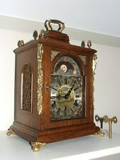 Dutch Rare Large Warmink Westminster 8 day,Oak Bracket clock,Moon phase/Calendar