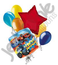 7 pc Blaze & Monster Machines Happy Birthday Balloon Bouquet Party Decoration