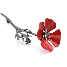 Enamel Remembrance Brooch Red Poppy Flower Lapel Pin Broach Pins Jewelry Gifts