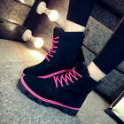 Work Women's Winter Warm Casual Lace up Outdoor Snow Boot lAUL #010