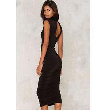Nasty Gal Careless Whisper Midi Dress Black Size S