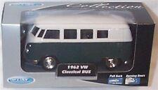 1962 VW Classic Bus Green 1-38 Scale  Mib