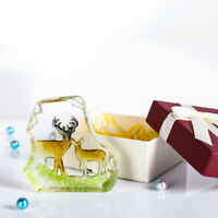 Crystal Engraving Moose Paperweight Deer Collectibles Decor Mother's Day Gifts