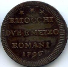 VATICAN PIE VI (1775-1799) 2 1/2 BAIOCCHI 1796 KM 71a