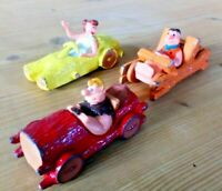 VINTAGE CORGI TOYS FLINTSTONES CAR SET WITH RARER BARNEY EARLY 1980s JOBLOT