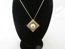 TAHITIAN PEARL AND GOLD NECKLACE