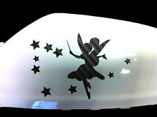 Fairy Stardust Car Sticker Wing Mirror Styling Decals (Set of 2), Black Carbon