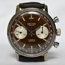 Oriosa Reverse Panda Vintage Swiss Chronograph Watch - Tropical Dial – Valjoux