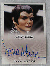 STAR TREK NEMESIS DINA MEYER AS COMMANDER DONATRA AUTOGRAPH CARD NA4 AUTO