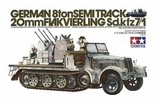Tamiya 35050 1/35 German 8ton Semitrack w/20mm Flakvierling Sd.Kfz. 7/1