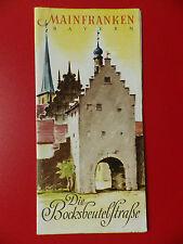 altes Reiseprospekt MAINFRANKEN Bayern Die Bocksbeutelstraße um 1938 ( 9850
