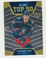 2019-20 Upper Deck Allure TOP 50 #T50-40 RC Rookie ALEXANDRE TEXIER Blue Jackets