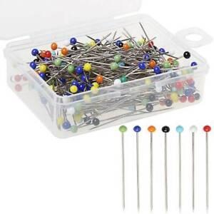 250pcs Pins Ball Glass Head Pins Straight Quilting Pins DIY Cr@#^ *d@hW