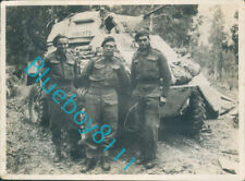 More details for ww2 british army north africa 1942-43 crew of 1st armoured car into tripoli