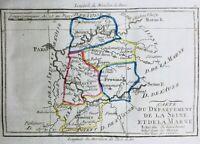 Seine et Marne en 1794 Nemours Provins Melun Lagny Meaux Rozay Perthes Brie