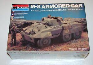 M-8 Armored Car 1:35 Model Kit Sealed Monogram 1982