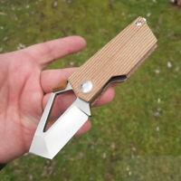 """Kizer Cutlery Cyber Folding Knife 2.16"""" M390 Steel Blade Micarta Handle 2563A2"""