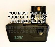 Re-build service for Blue-Point ETBT1200 NiCad 12 volt battery