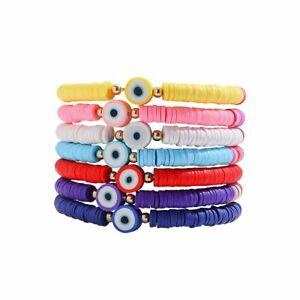 1pc Multilayer Evil Eyes Bracelets Crystal Shell Charm Bracelet Women Bohemian J