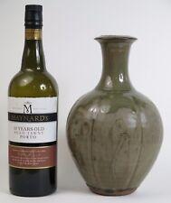 Phil Rogers studio pottery ash glazed bottle vase
