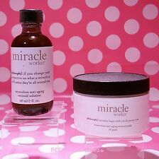 PHILOSOPHY Miracle worker Anti Aging Retinoid Pads and Solution 60 pads 2 oz!!