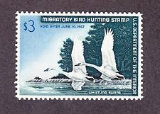 US RW33 $3 Hunting Permit Stamp of 1966 Mint OG NH SCV $110