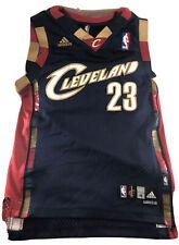 Lebron James #23 Cleveland Cavs Jersey Kid's M Adidas Swingman Stitched
