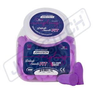 EarPlugs 50 Pair Purple Soft Foam Individually NRR 31DB Sleep Travel Noise